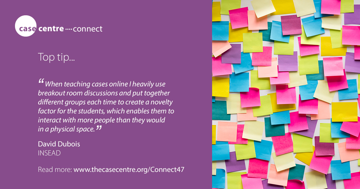 An online case teaching top tip from @d1dubois @INSEAD in our latest issue of Connect... https://t.co/MLbaasQTWB