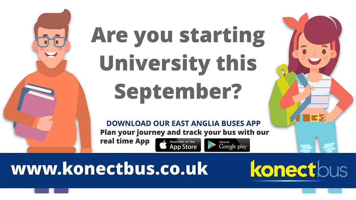 Got your bus travel sorted for University?  We've some great #student travel deals available to save you money and give you the freedom to get around #Norwich. https://t.co/13RGMpoHXK #universityofeastanglia #studentlife https://t.co/BSnAKBauDv