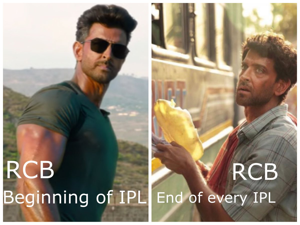 Royal Challengers Bangalore at the beginning and end of Indian Premier League every year. (My final #RCB joke I promise 😂) #RCBVsSRH #SRHvsRCB #IPL2020 https://t.co/AXaeLvESgh