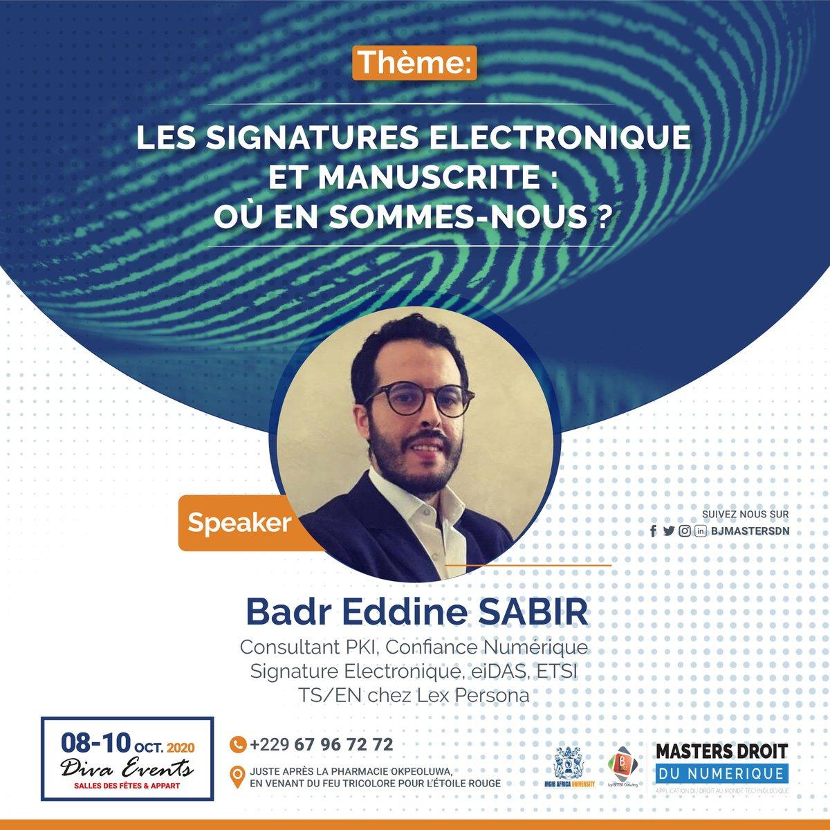Savoir et se passionner pour une chose sont deux choses différentes. Badr Eddine Sabir, consultant PKI et signature électronique, est un sachant et un passionné de la signature électronique. Obtenez votre pass 👉https://t.co/Aay8Dg9b8X #droitnumerique #BJMasterDN https://t.co/S0OxFSjJQK