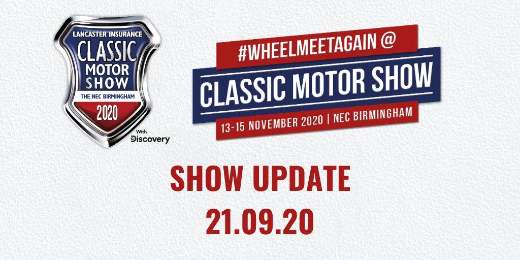 It is with great sadness that we've taken the difficult decision to postpone the 2020 edition of the @Lancaster_Ins Classic Motor Show.  We would like to thank everyone for their patience and passion.  For our full statement, head over to our website: https://bit.ly/33FMV5G
