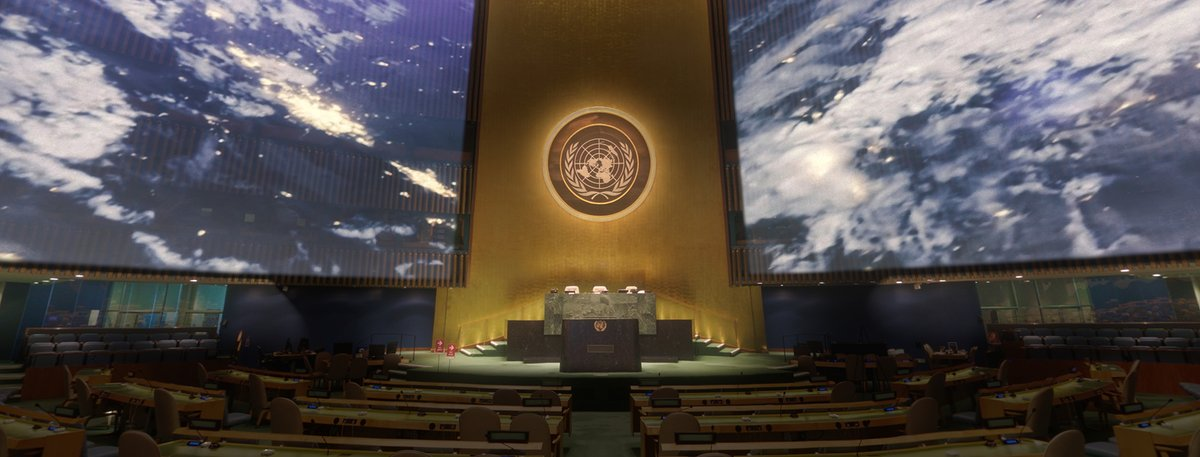 During weeks historic 75th #UNGA, explore the UN General Assembly Hall in a whole new way! Our 360-video experience takes you through memorable moments that have played out on one of the world's most recognizable political stages. facebook.com/54779960819/po…