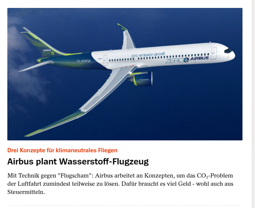 """If you're wondering how today's #Airbus announcement will be spinned, Spiegel here is making it clear for you: """"Technology vs. flight shame"""" 🤦♂️ https://t.co/brybqTEE3H"""
