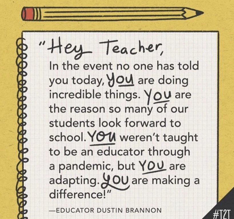 A reminder today from our amazing principal, Mrs. Freeman @AshfordParkES - Thank you for this reminder! Sharing for anyone else needing this reminder today! ❤️❤️❤️ #teachinginapandemic #teachersrock #weloveourstudents #weloveourschool https://t.co/Xu9k3mktbP