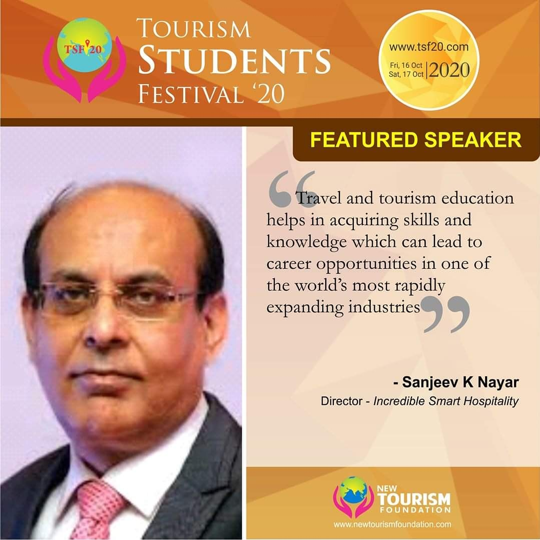 #NewTourismFoundation presents #sanjeevknayar at #TSF20. Check the schedule at https://t.co/w1guORiePd Email us at partner@tsf20.com or click here to partner https://t.co/V8Tj3yXZg2 for the cause of #Tourism Click https://t.co/KKUDujfKmm to buy #ticket for 350/- INR Participate. https://t.co/L3jX37pZeD