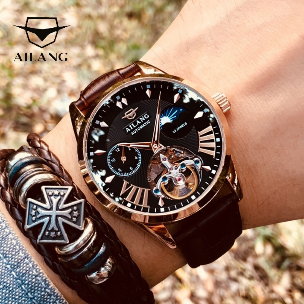 #fashionstyle AILANG Quality Tourbillon Men's Watch - Moon Phase Automatic Swiss Diesel Watch With Mechanical Transparent Steampunk. https://t.co/huzWzIfipd