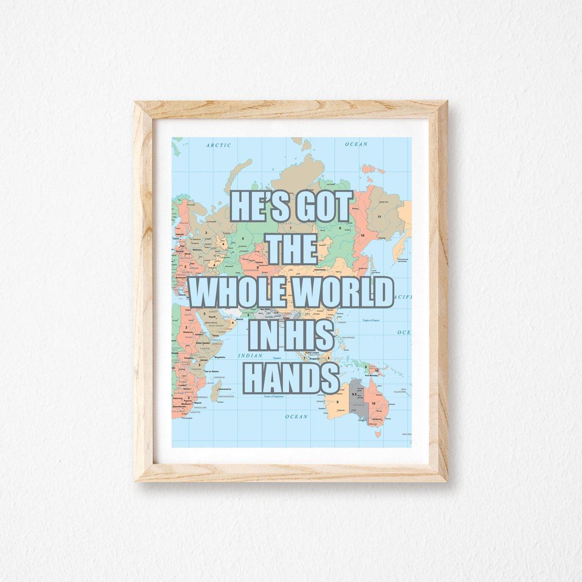 He's got the whole world in His hands Kids Room Decor Christian Wall Art https://t.co/9DKHaYgkZC #truebluedesignco #Etsy #ChristianWallDecor https://t.co/VG3r4Djbuc
