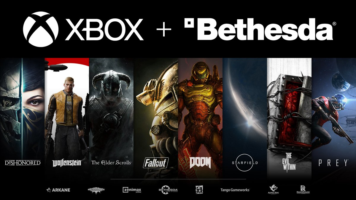 Oggi è una giornata speciale! Siamo EMOZIONATISSIMI di dare il benvenuto ai talentuosi autori e agli amati franchise Bethesda nel Team Xbox.   Leggi per intero l'annuncio di @XboxP3: https://t.co/QSEzFI1Ri1 https://t.co/wfXA7jDOQG