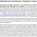 "Image for the Tweet beginning: ""NEWRANGE GOLD UPDATES DRILL PROGRAM"