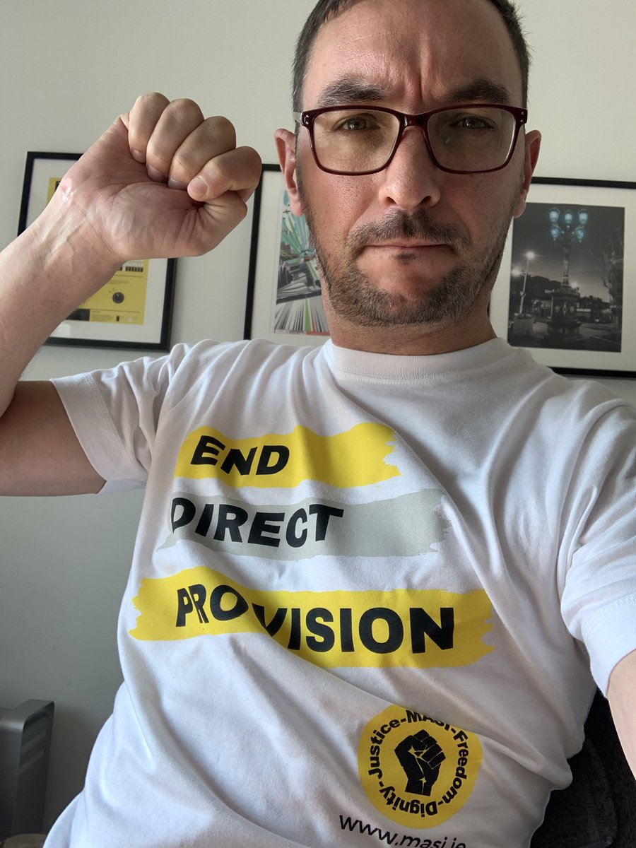 Got @my ⁦@masi_asylum⁩ 'End Direct Provision' t-shirt today. Get yours and help their campaign on https://t.co/UsbpkykpUG #EndDirectProvision https://t.co/SDOg1VDICb