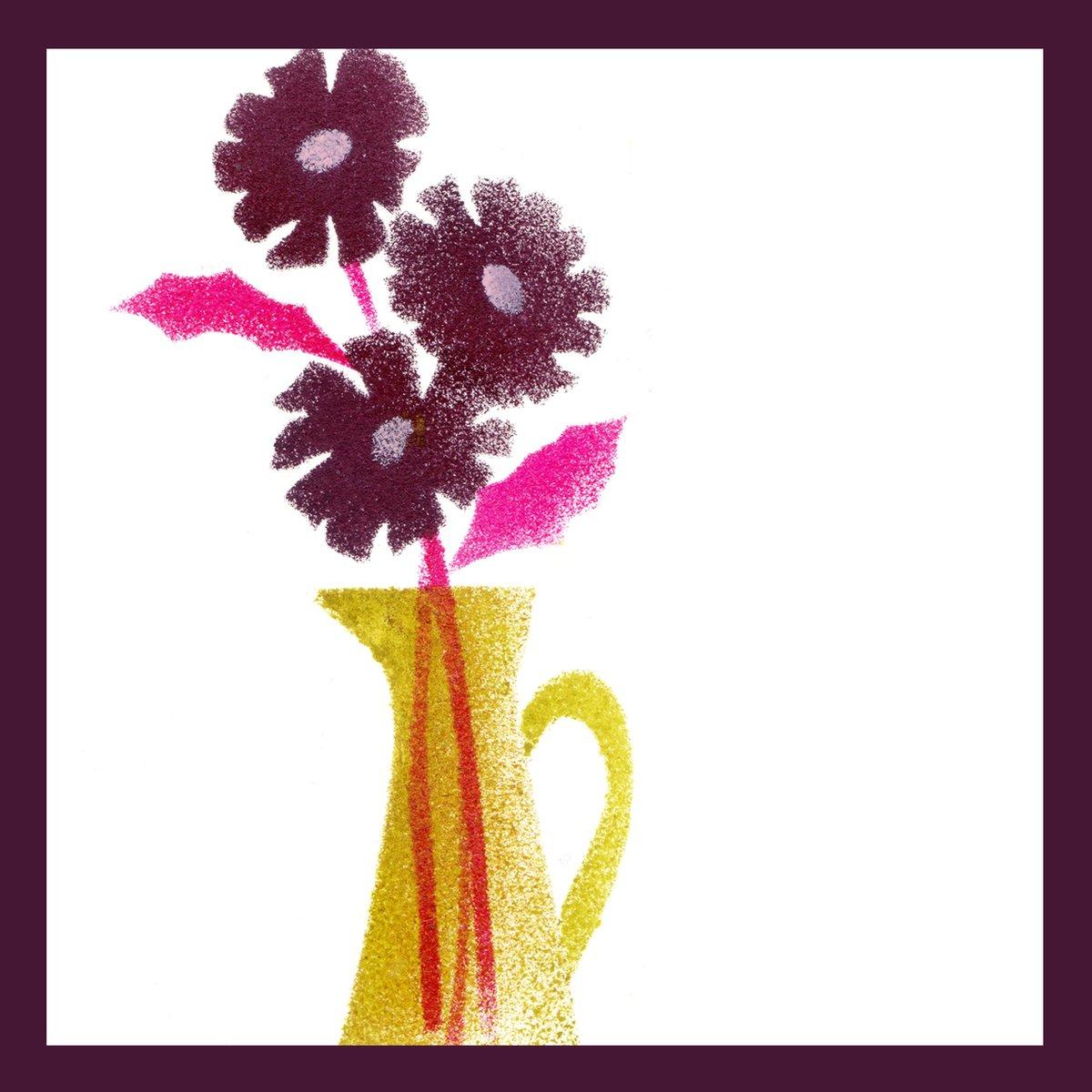 チョコレートコスモス Chocolate Cosmos  #ステンシル #イラストレーション #イラストレーター #イラスト #チョコレートコスモス #illustration #stencilart #flower #flowers https://t.co/I8D7ZNSHrY