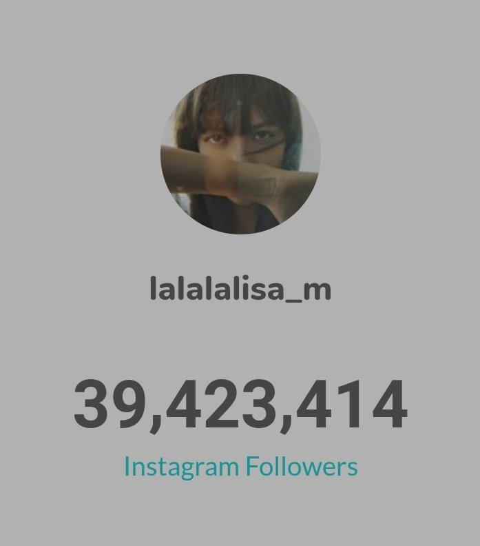 LISA has gained 45,254 followers in past 24 hours 🌟  ▪39,423,414 followers ▪592 posts  https://t.co/mSpTxRCXqg  #LISA #LALISA   #리사 #블랙핑크 #BLACKPINK  @BLACKPINK @ygofficialblink https://t.co/ZYtIzGkFp3