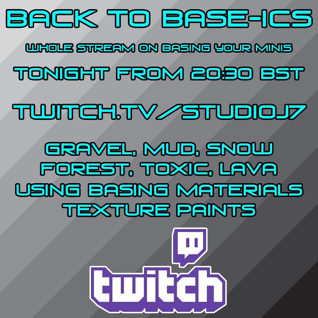 https://t.co/gbIo9ANCBZ tonight. Basing your minis, covering all the base-ics. Basing Materials and GW texture paints. Come hang out 😎 #twitch #twitchstreamers #twitchcreative #miniatures #minipainting #warhammer #warhammer40k #AgeOfSigmar #hobby #TabletopGaming #GamesWorkshop https://t.co/iBkMtBQfQW