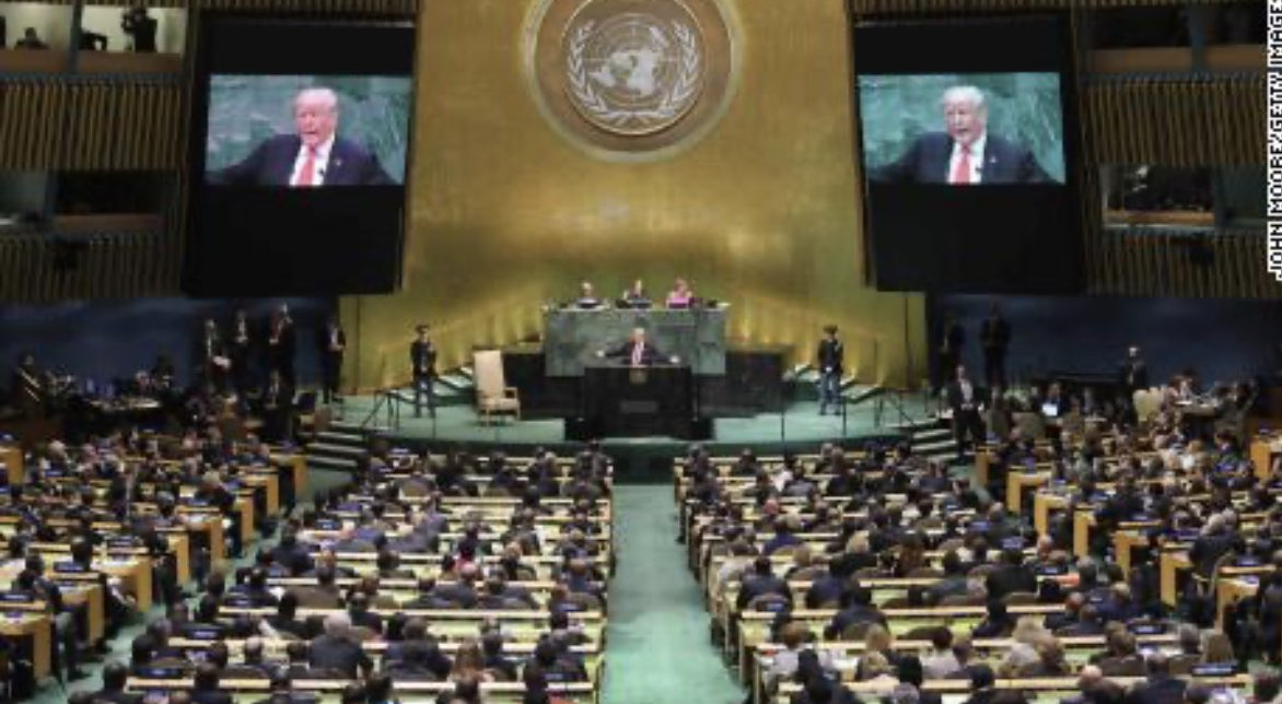 #UNGA #Trump won't get what he loves - a live audience