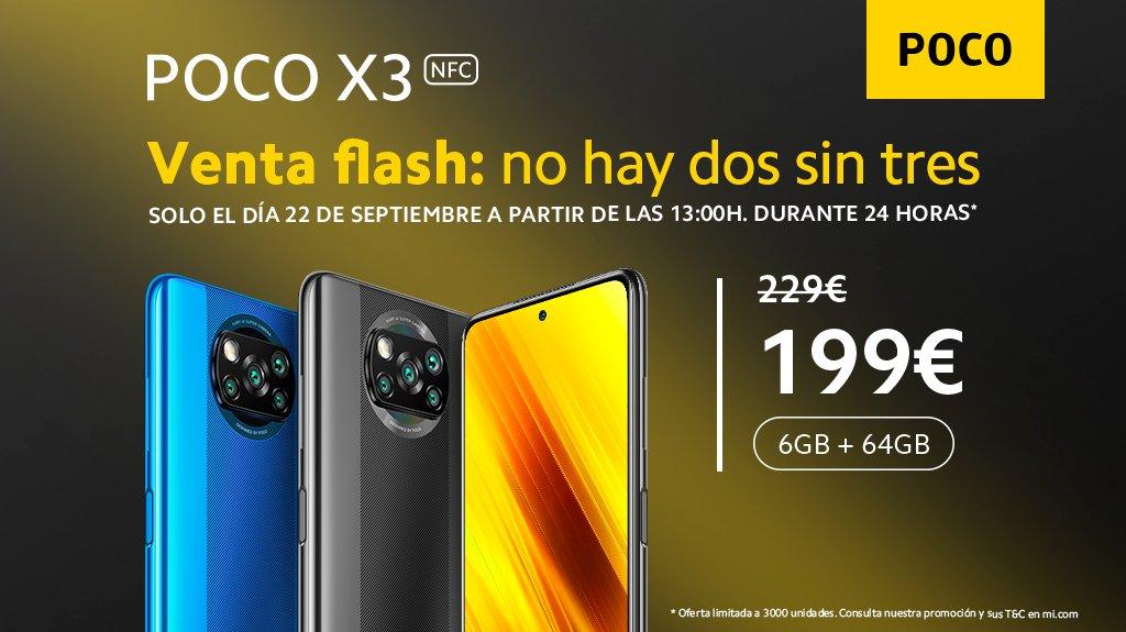 ¡Oye #MiFan!, gracias a ti el #POCOX3 NFC es todo un hit y como sabemos #ExactamenteLoQueNecesitas te traemos una nueva venta flash, porque no puedes decirle que no al teléfono del momento 😏 https://t.co/FJU42ZpTs0 https://t.co/ckGfpqMMFO