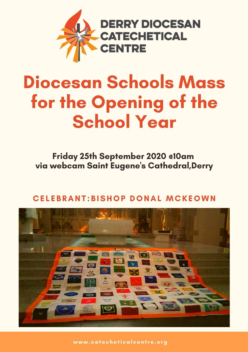Diocesan Mass-Opening of School Year Bishop McKeown will celebrate Mass for the opening of the school year.Links for webcam 1) Watch via https://t.co/BBkVgPxdEg 2) Watch via https://t.co/WkjL3UIblD 3) St Eugene's Cathedral Facebook Page https://t.co/wVBbaN8aJI click on Live link https://t.co/BdA2CEGijV