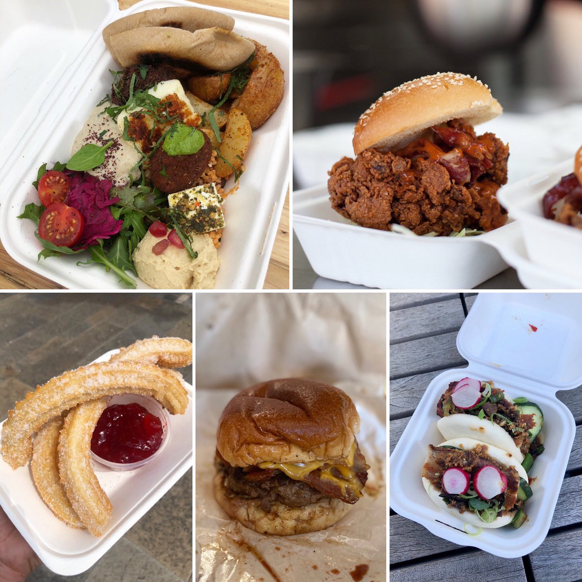 The big boys are in town this Thursday 24 September on #SaffronWalden Common, 5 'till 8pm. 🚚 #OTBT  🥟 @GuerrillaKitch (online orders LIVE)  🍗 @Buffalo__joes  (walk-ups)   🍔 @steakandhonour (online orders LIVE)  🌈 @Wanderingyak (walk-ups)   🍭 @churros_bar (walk-ups) https://t.co/QLcdPyP3Ns