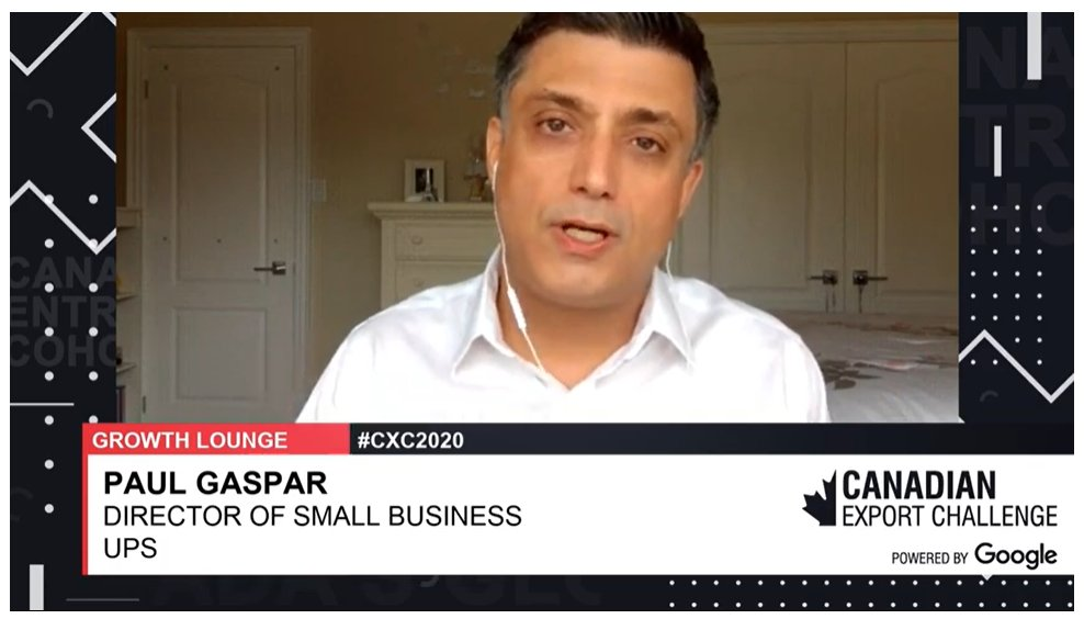 Have questions about  transporting packages, freight, facilitating international trade and more? Join Paul Gaspar, @UPS_SmallBizCA in the #CXC2020 Growth Lounge! Ask your questions now!  https://t.co/HtVZoe3jWR…   #GlobalEntrepreneur #SmallBiz https://t.co/gA6ohqejNr