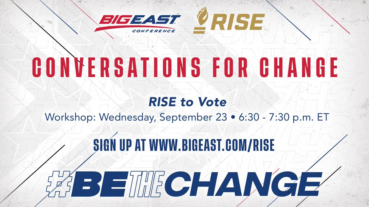 Our final @RISEtoWIN workshop is this week - visit BIGEAST.com/RISE to register! #BEtheChange