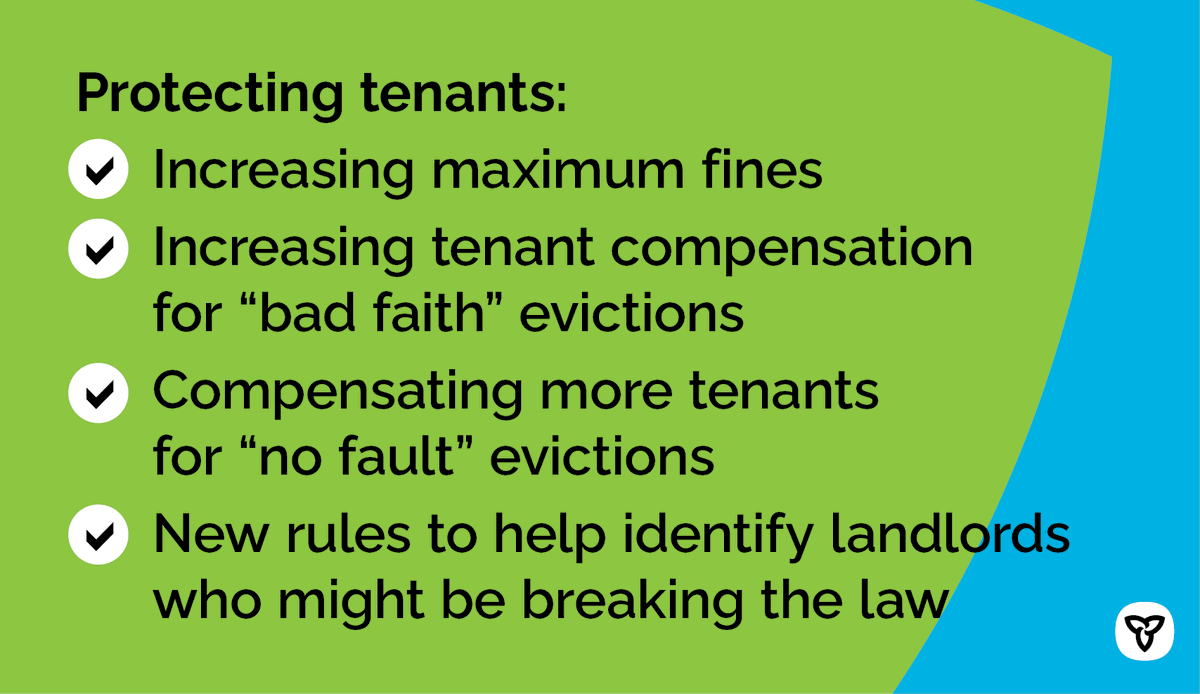 We've heard the concerns from tenants who've been renovicted. That's why we're increasing fines, raising tenant compensation and tightening the rules to encourage everyone to follow the law. https://t.co/aTHJU3rAgG https://t.co/kcm3x26RHQ