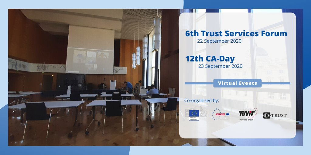 Get ready for tomorrow! #ENISA in collaboration with the European Commission is organising the sixth Trust Services Forum!   Stay connected to learn the last advancements in #trust service and #eID.   More info: https://t.co/abT9QQVwHP https://t.co/mjAGxoYpM0