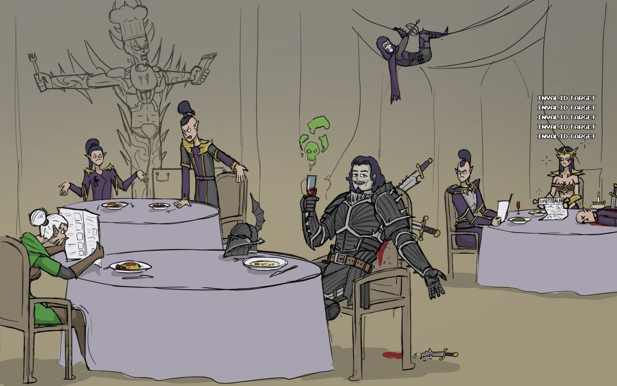 Vampires and dark elven restaurant etiquette #warhammer https://t.co/sPXKzR0xaa