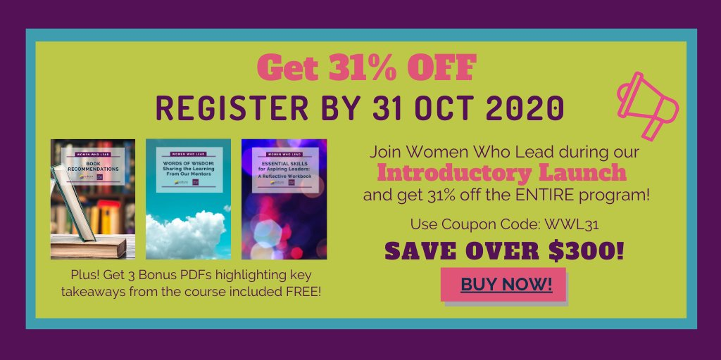 When you register for #womenwholead by October 31st you get a great discount! Learn more: https://t.co/zxp7BWQwEx #womened #SLTchat #leadership https://t.co/CJyNk6IdTi