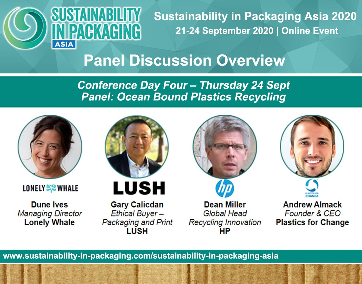 Our founder, Andrew Almack will be taking part in a very important panel discussion on sustainability in the packaging industry.  Register now:  .  Learn more about what we do:   #plasticsforchange #sustainability #circulareconomy