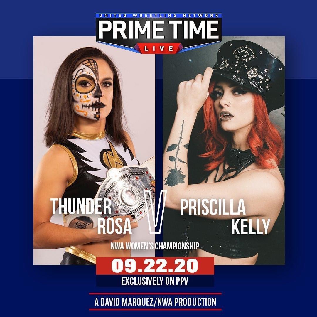 UWN Primetime Live Results: NWA Women's Champion Thunder Rosa Vs. Priscilla Kelly