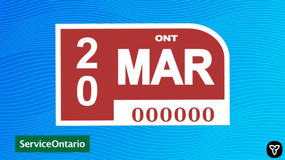 Serviceontario On Twitter Waiting For Your New Licence Plate Sticker To Arrive We Urge You To Keep The Temporary Validation Document In Your Vehicle As Proof Of Renewal For More Info Https T Co Ts1rwavs01