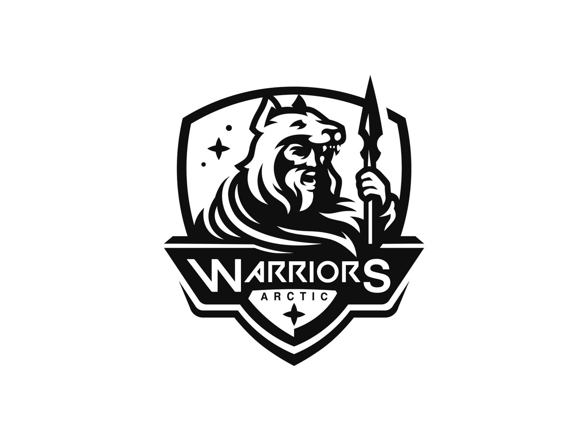 arctic warriors. (for sale)  logo project i worked on last week.   support is much appreciated. https://t.co/uJkT03f1FD