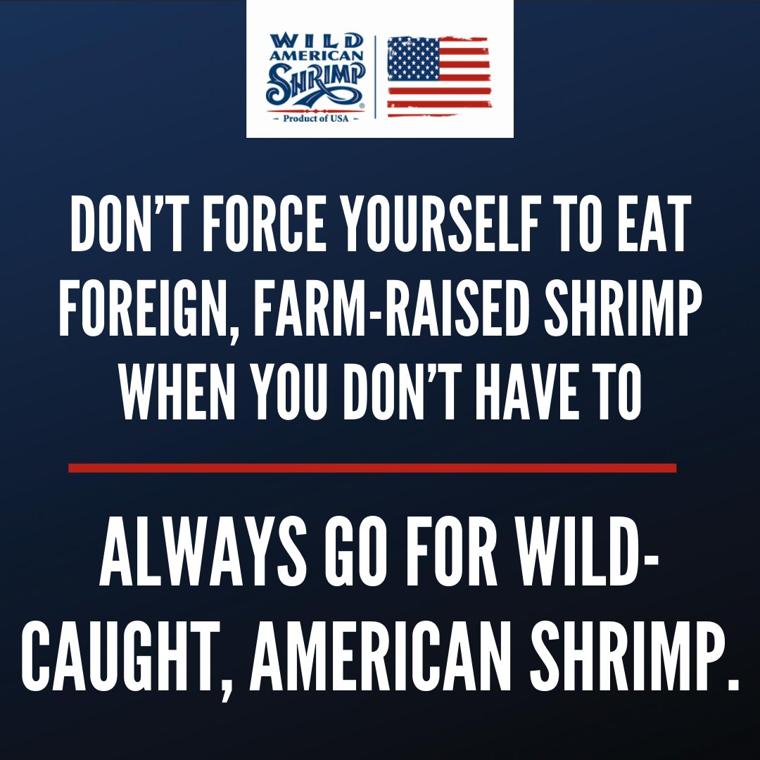 Whether you're buying shrimp from your local grocery store or getting them delivered from your favorite restaurant, be sure to always get wild-caught, American shrimp!  Learn more about our delicious Wild American Shrimp at https://t.co/lXQKcR5SXI! #shrimp #buylocal #wildcaught https://t.co/nbHWmjsJbf
