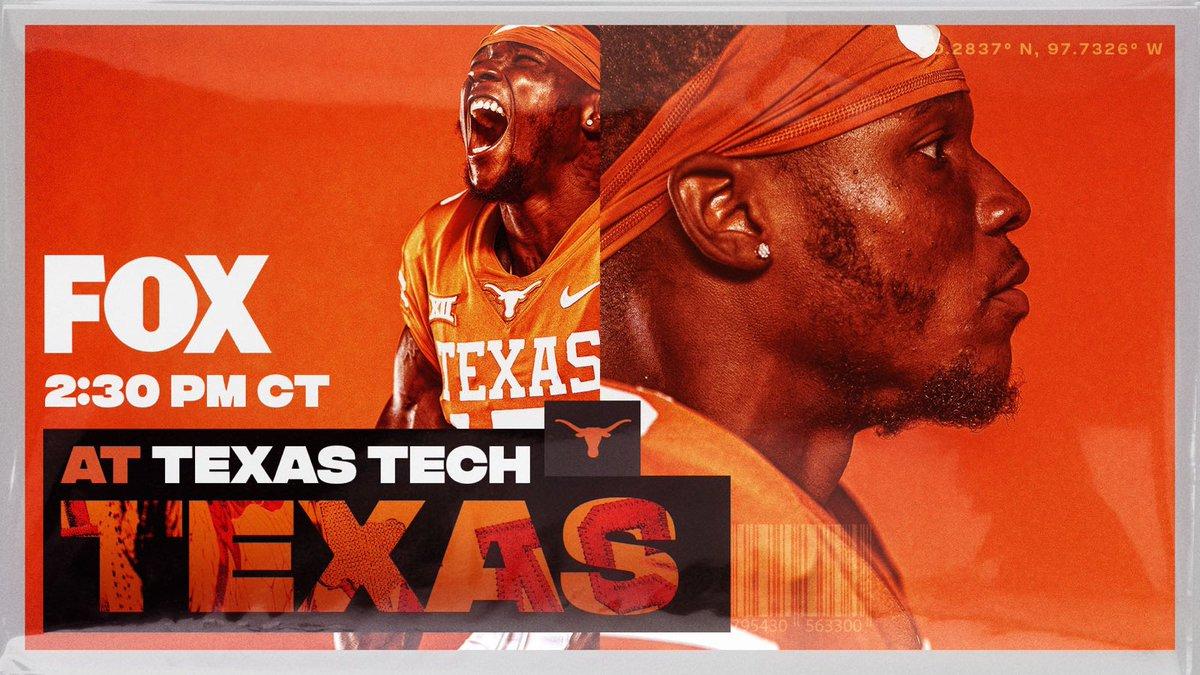 Game Week. At Texas Tech. 🤘 #ThisIsTexas #HookEm