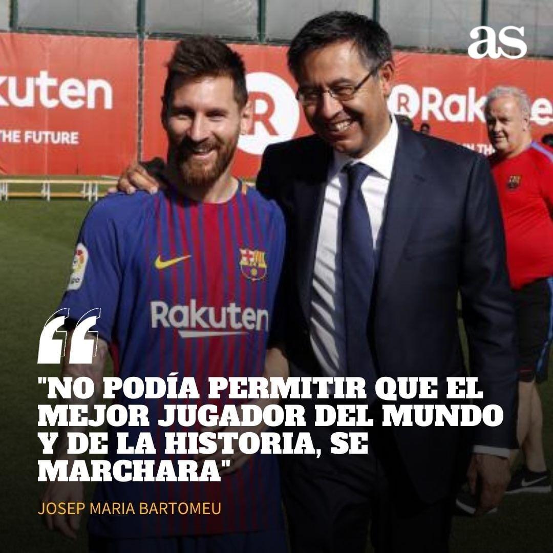 """🔥 Bartomeu se refirió al caso de Messi en el Barcelona 🗣 """"Nos tenemos que felicitar de que Messi siga con nosotros. Está ilusionado con Koeman"""" https://t.co/iE1GH6GwvH"""