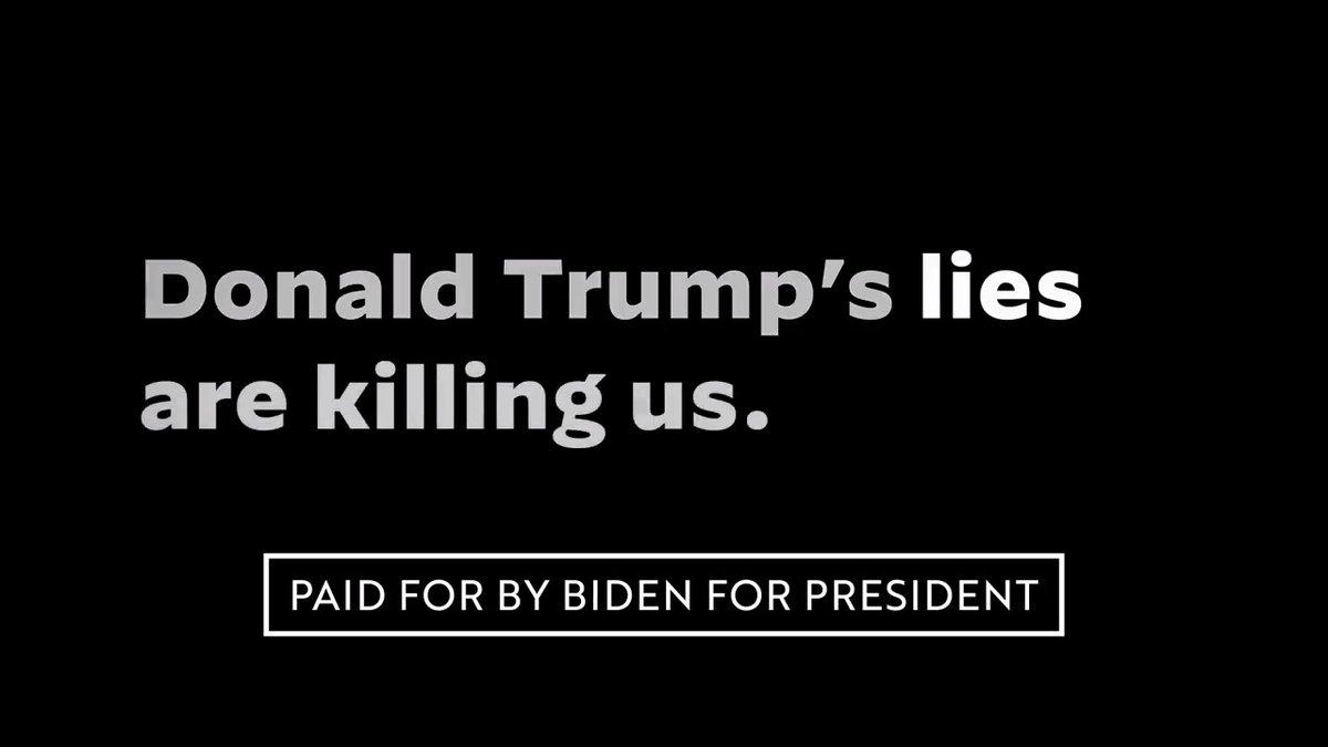 "New Biden ad ""He Knew"" blasts Trump's response to Coronavirus: ""More than 190,000 dead. 21% of them Black. Donald Trump's lies are killing us."" https://t.co/AojhbbgiLN"