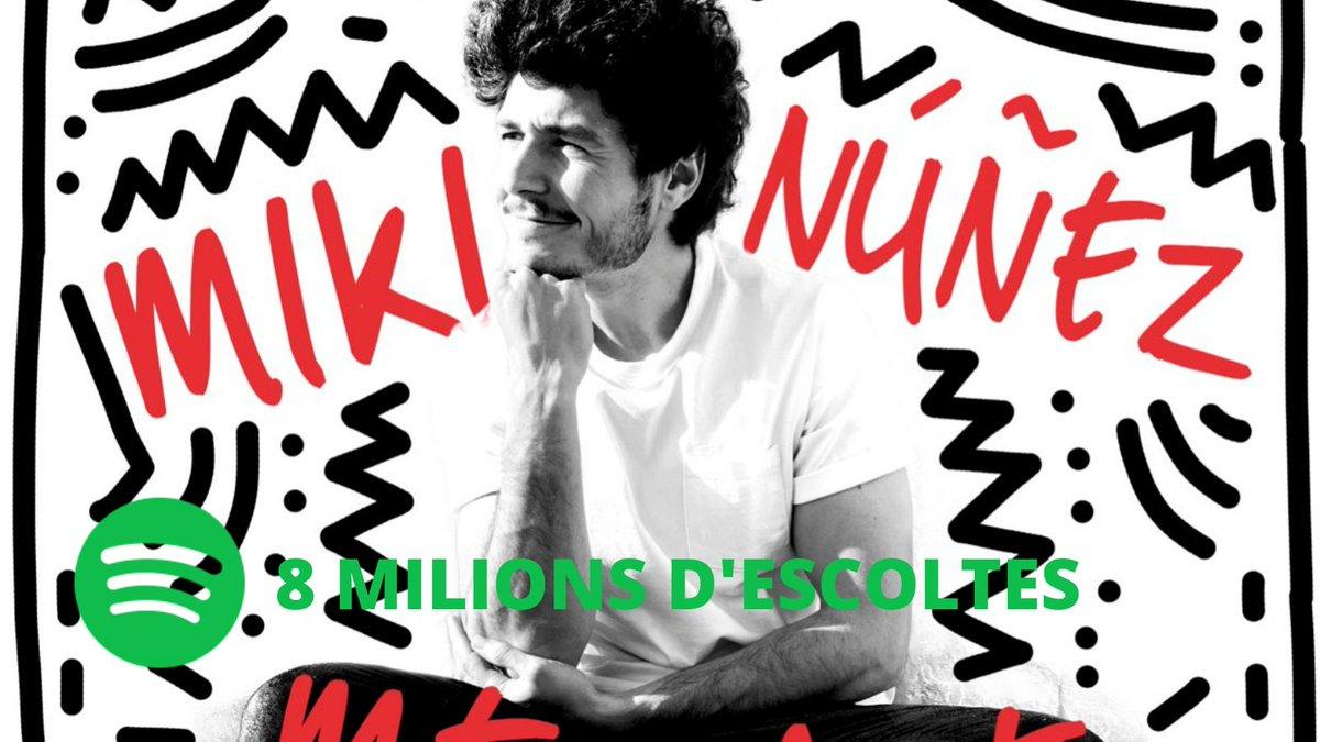 """""""Me vale"""" de @mikinunez ja te més de 8 MILIONS d'escoltes a @SpotifySpain! 🎉 @UniversalSpain https://t.co/mbmZbJXAwu"""