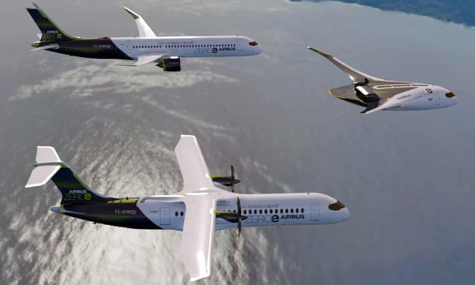 Airbus has announced plans for the world's first zero-emission commercial aircraft models that run on hydrogen and could take to the skies by 2035.  Guardian | #263Chat https://t.co/C9zzJGGUif