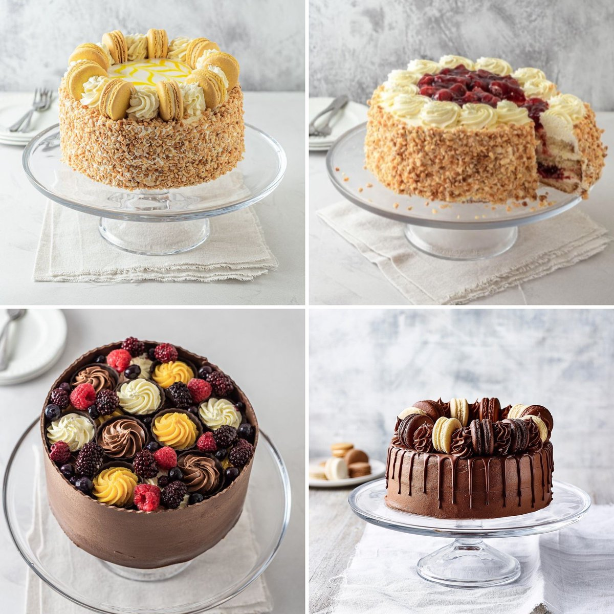 Fighting off the Monday blues? Our most popular cakes have your name alllllll over it.   Habana, Lemon, Triple Chocolate, Strawberry… Which one are you going to choose.  Order now: https://t.co/jLVylSaq8O https://t.co/80hi228bhg