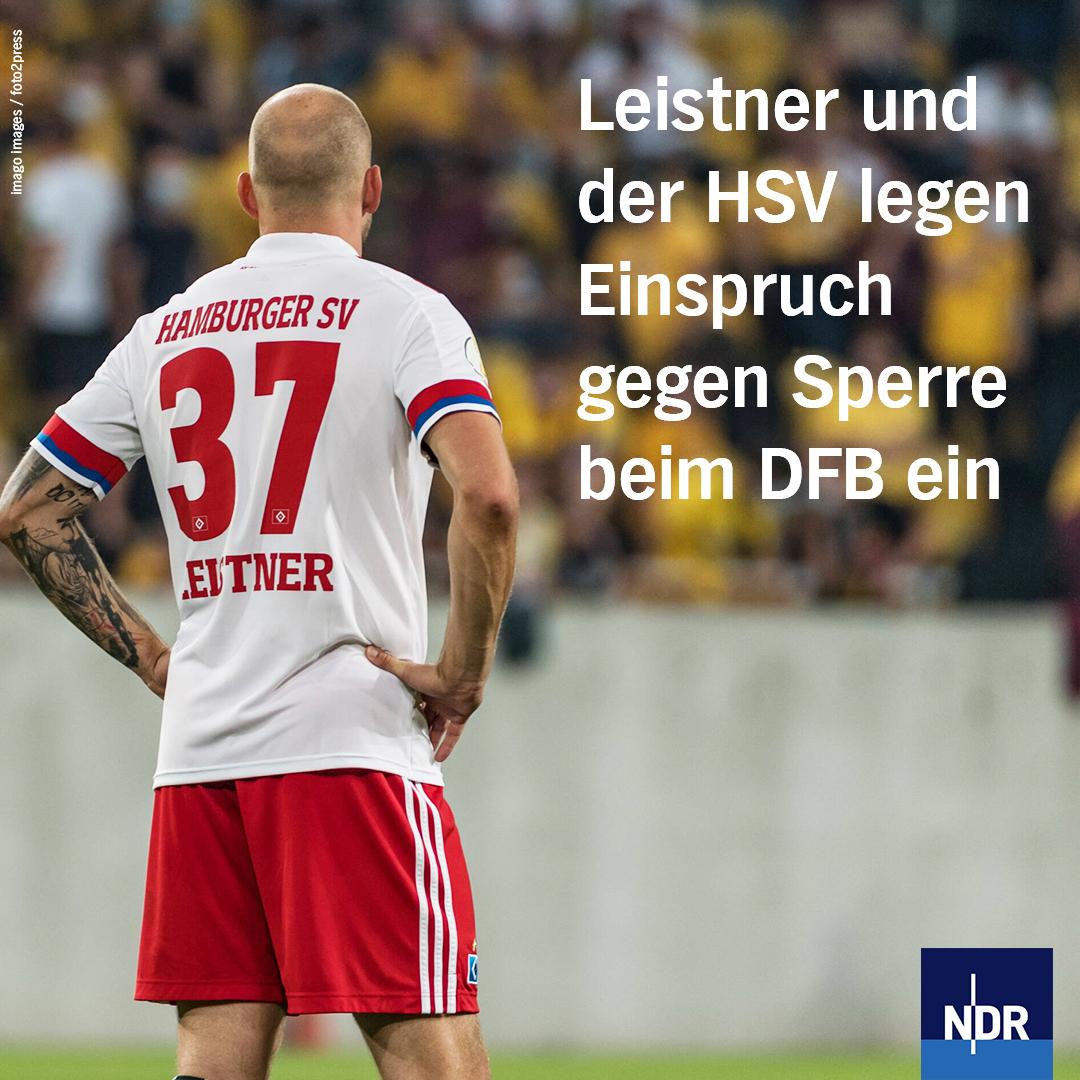 Verteidiger Toni #Leistner und Zweitligist #HSV wollen die Sperre für den 30-Jährigen wegen seiner Attacke auf einen Fan von Pokal-Erstrundengegner Dynamo Dresden nicht akzeptieren. https://t.co/nvcvIqoMnx https://t.co/ww6xT4mFBI