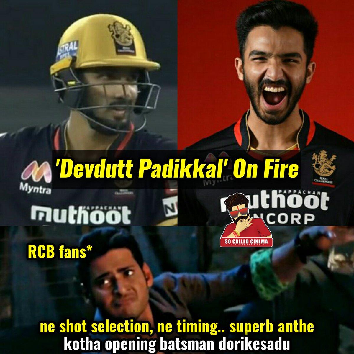 DEVDUTT PADIKKAL 🔥🔥  #DevduttPadikkal #SRHvRCB #IPL2020 #RCB #SRH #SoCalledCinema https://t.co/4whw7edDRD