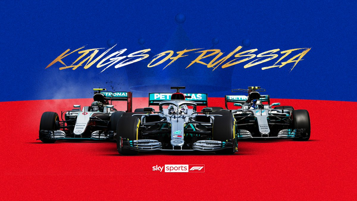 2014 🏆 2015 🏆 2016 🏆 2017 🏆 2018 🏆 2019 🏆  @MercedesAMGF1 have taken victory in every #RussianGP 🇷🇺  Who can dethrone the Silver Arrows this weekend? 👑  #SkyF1 | #F1 https://t.co/AOZwWfGqyv