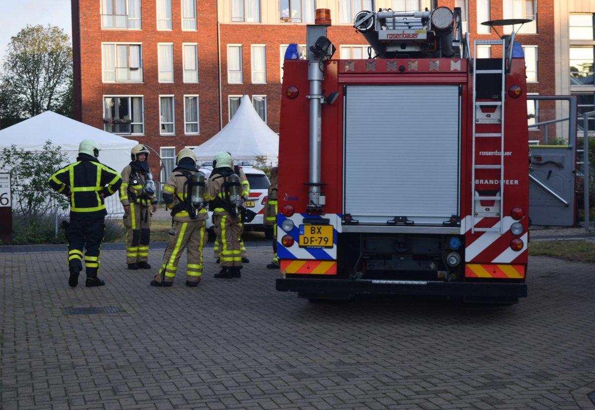 Brandweer rukt uit voor het bevrijden van een persoon van het toilet -..