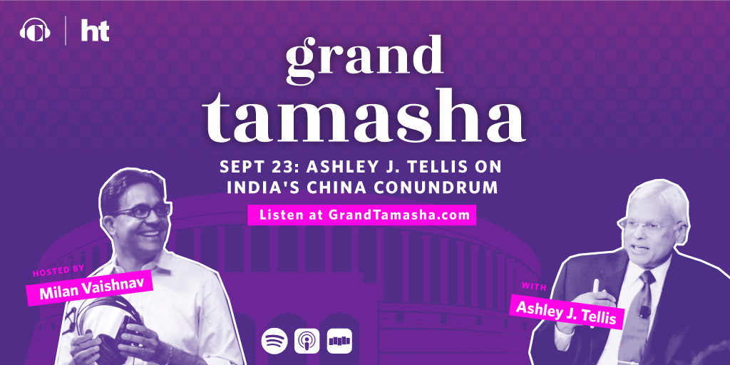 New #GrandTamasha episode drops tomorrow. Recorded a really great conversation with my @CarnegieSAsia colleague Ashley J. Tellis on the China-India border dispute. Packs a punch.   To subscribe to the podcast, visit: https://t.co/HUu8dSm9Ml https://t.co/E2mAjjPE98