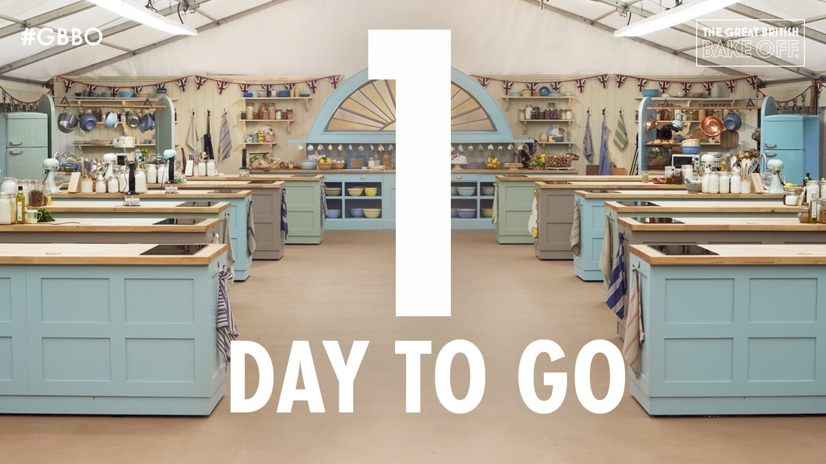 As the big day draws near, it's time to cheer. There's just one day to go until new #GBBO! https://t.co/GjUQlAljd9