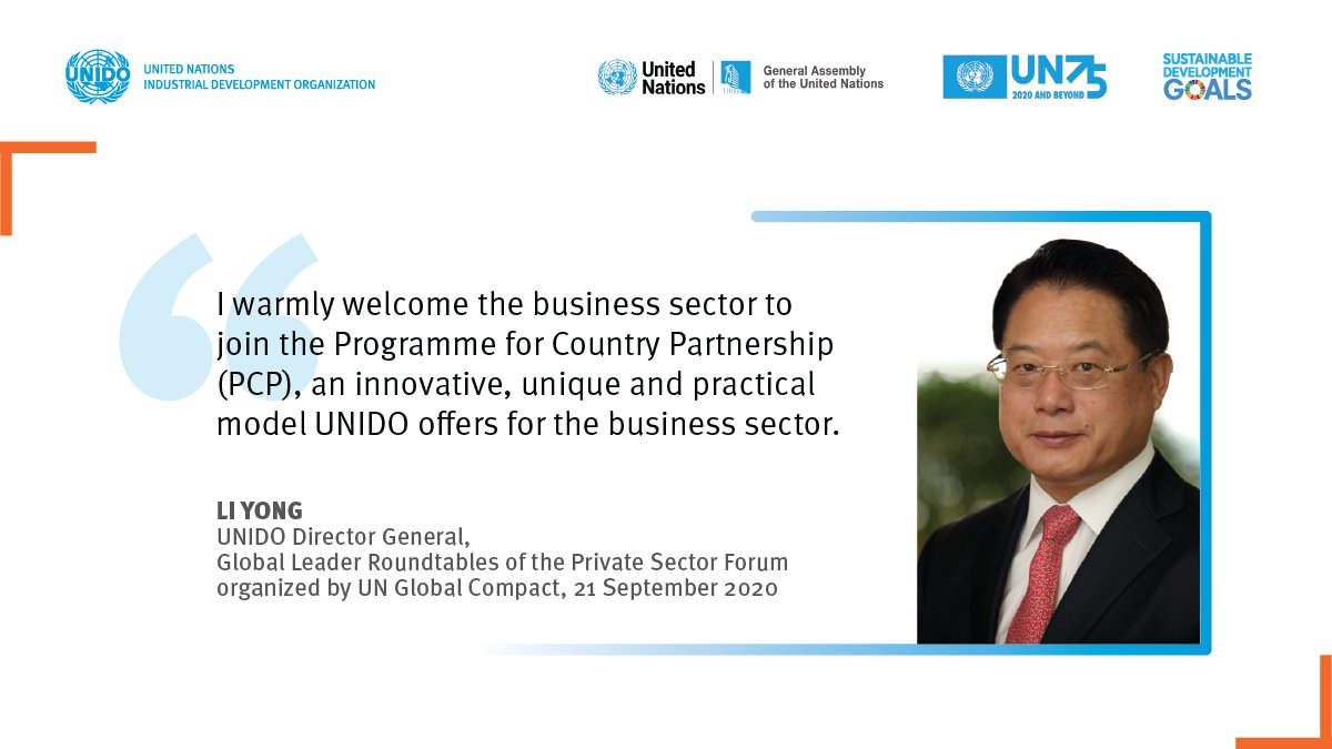 🗣️ Meet #UNIDO DG LI at #UNGA75 today!  The @globalcompact Roundtables encourage principles-based businesses to support the work of the @UN to build a more equitable, inclusive & #sustainable world.  📺 Watch the #UNGA events here: https://t.co/kQ7MZxmY4d https://t.co/hDpwiCnT9s
