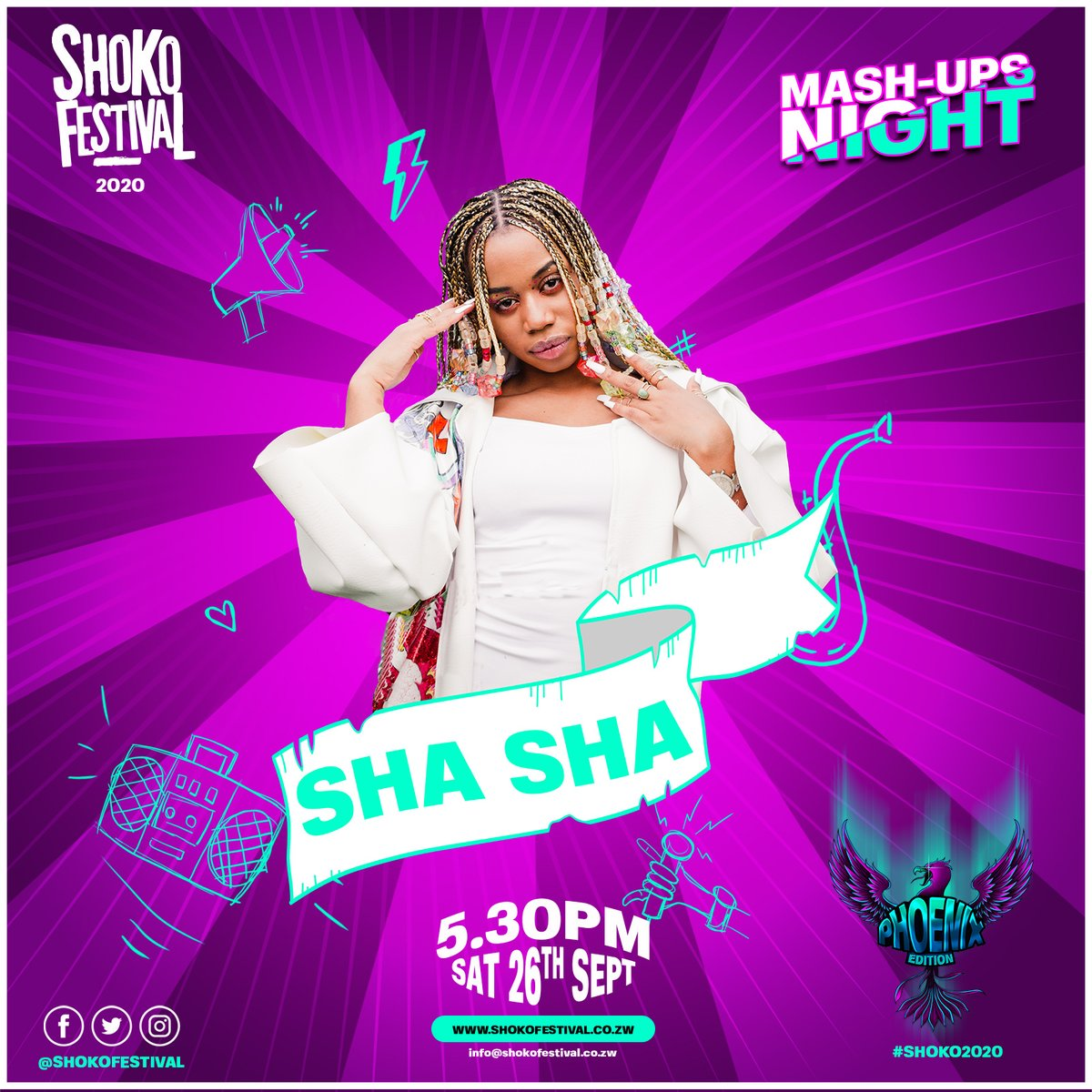 ⚠️ BIG ANNOUNCEMENT ⚠️.  We are ecstatic to announce that @ShaShaOfficial_  will be headlining #Shoko2020 along with Ti Gonzi, Poptain and Jah Master. https://t.co/D1oNtuU9cd https://t.co/9QdTIGUgco