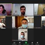 Image for the Tweet beginning: Hoy tenemos reunión virtual del