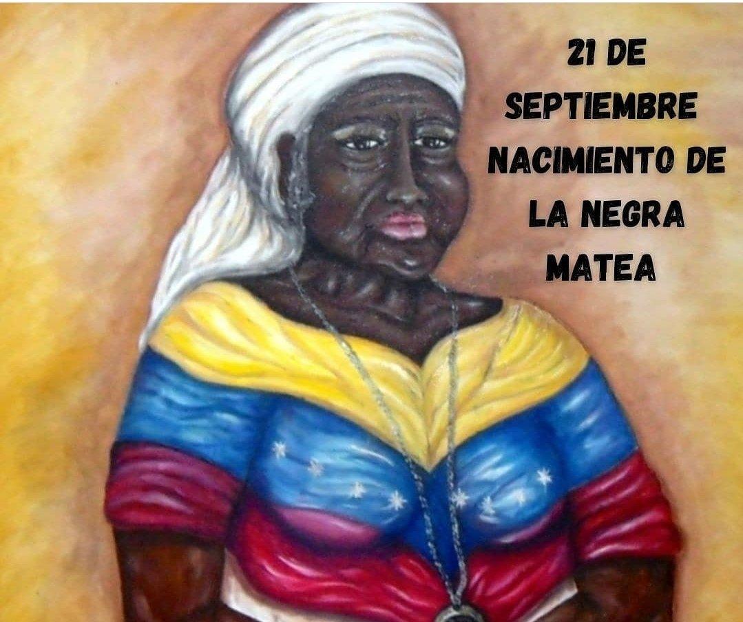 #21Sep Recordamos a la heroína afrodescendiente y cuidadora del niño Simón Bolívar, Matea Bolívar, mujer que vio con sus ojos el nacimiento de la independencia y acompañó al Libertador hasta su tumba, ejemplo de verdadera lealtad. https://t.co/vBS1bThkZv