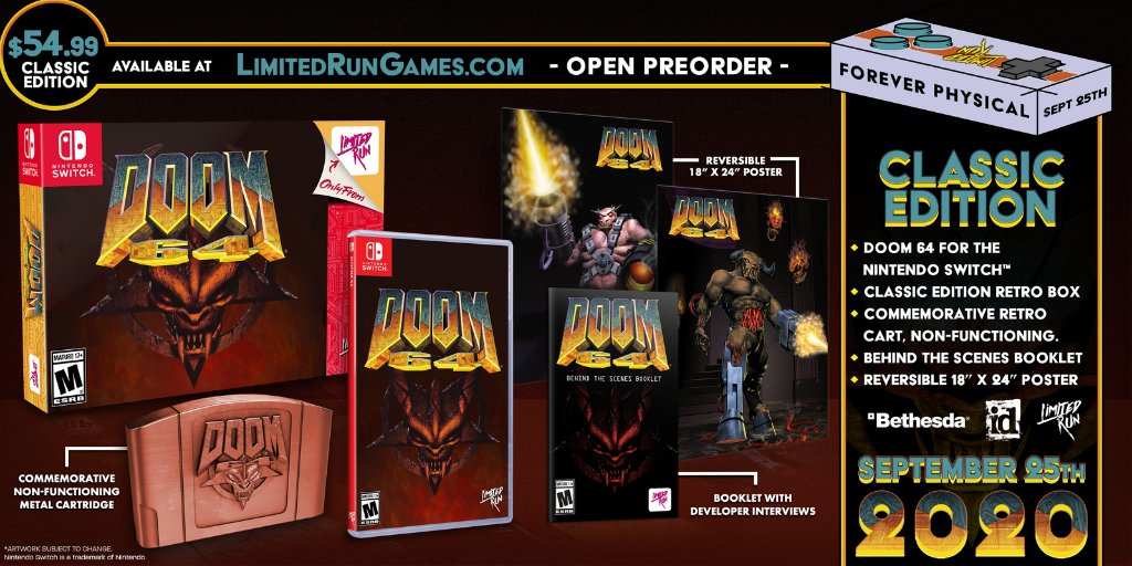 Power to the Slayer! We're giving away one copy of DOOM 64. Like, retweet, and follow @limitedrungames and @DOOM to enter. Winner announced tomorrow at 11 AM ET.