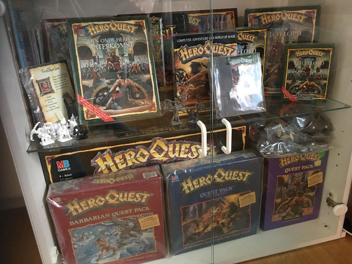 @heroquest I expect a return visit to my childhood (consider myself to be a big collector of HeroQuest here in Sweden) but in a new updated form, but still, I hope that it will be similar so that the nostalgia factor kicks in already at the first glance.  #HeroQuest #avalonhill #Lithner https://t.co/Tm5zYAPvl0